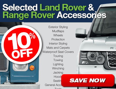 10% Off Selected Land Rover and Range Rover Accessories