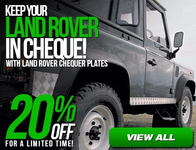 20% Off Land Rover Chequer Plates