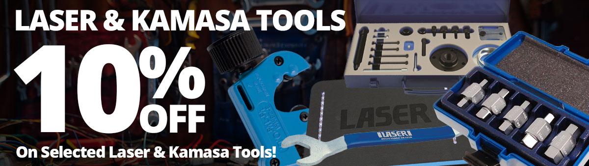 10% Off Selected Laser and Kamasa Tools