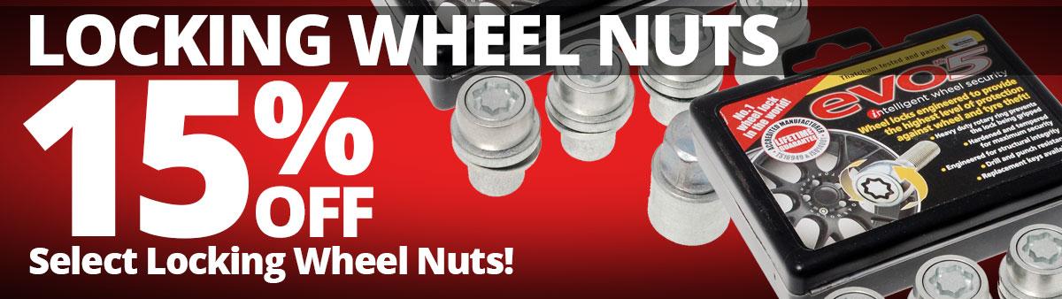 15% Off Select Locking Wheel Nuts
