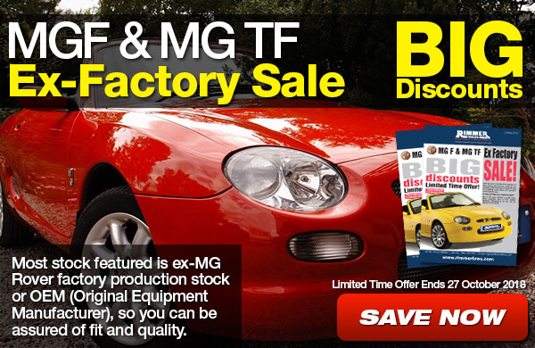 MGF and MG TF Ex-Factory Sale