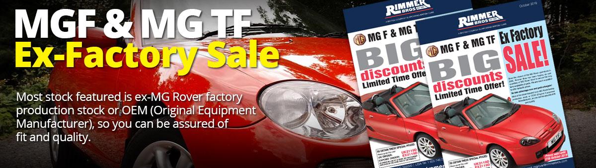 MGF & MGTF Ex-Factory Sale
