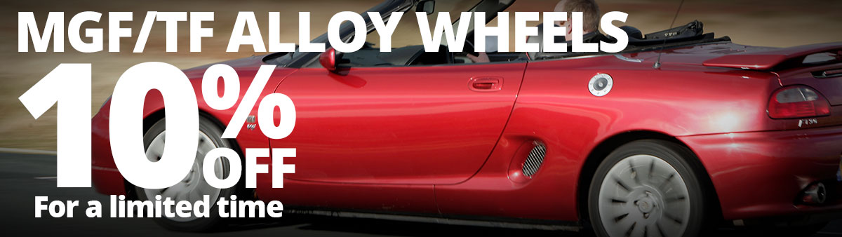Save 10% on MGF/TF Alloy Wheels