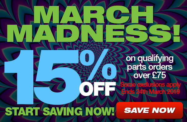 March Madness - Save 15% on qualifying parts order over 75