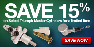Save 15% on select Triumph Master Cylinders for a limited time