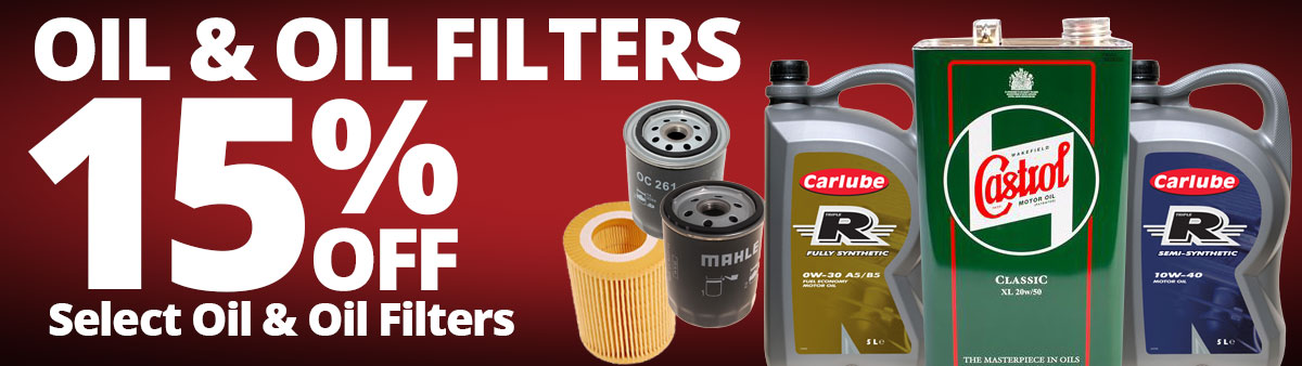 Save 15% on select Oil and Oil Filters