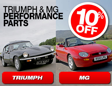 10% Off Triumph and MG Performance Parts