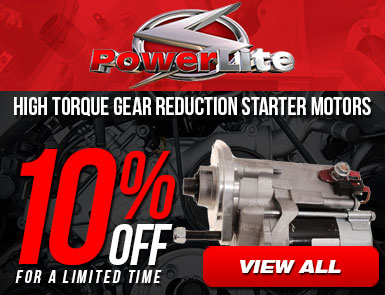 Powerlite - High torque gear reduction starter motors - 10% off for a limited time