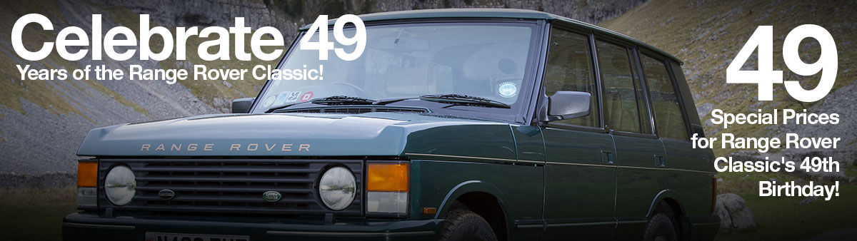 49 Special Prices for Range Rover Classic's 49th Birthday