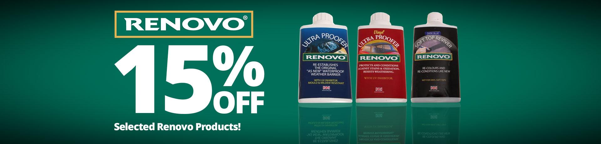15% off Renovo Car Care