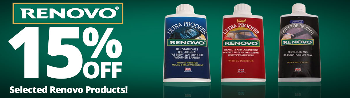 15% Off Selected Renovo Products