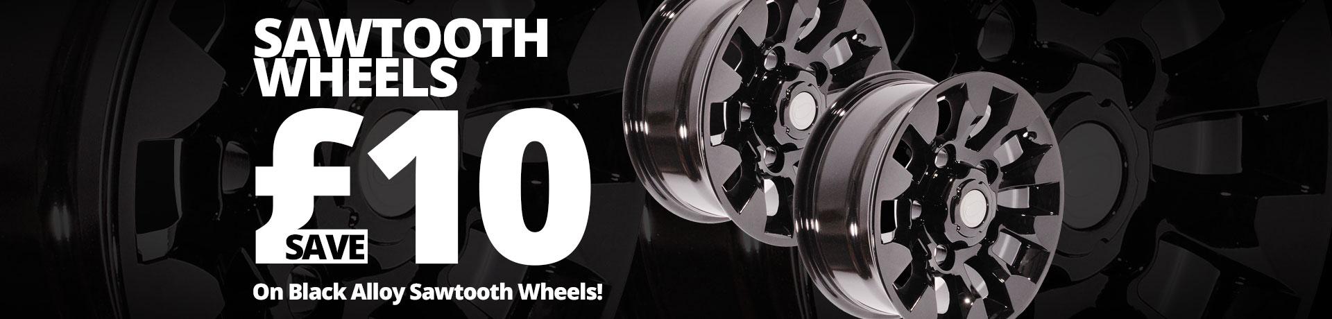 Black Alloy Sawtooth Wheels