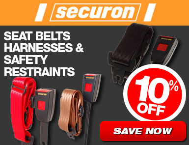 Securon Seat Belts, Harnesses and Safety Restraints - 10% Off