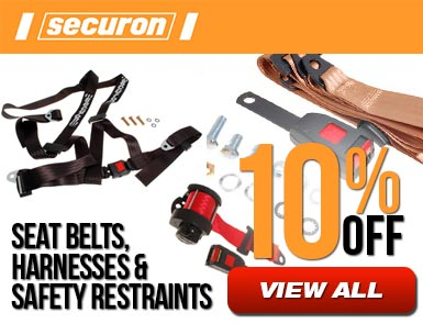 Securon - Seat belts, harnesses and safety restraints - 10% off