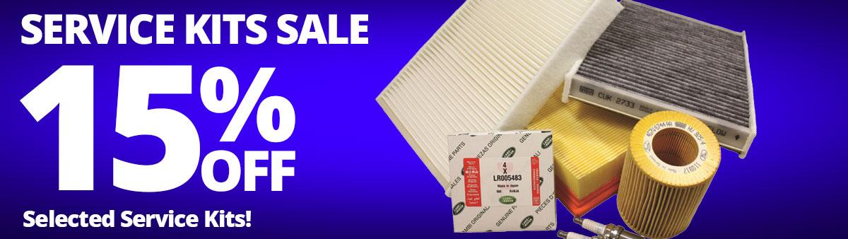 Service Kits Sale - 15% Off Selected Service Kits