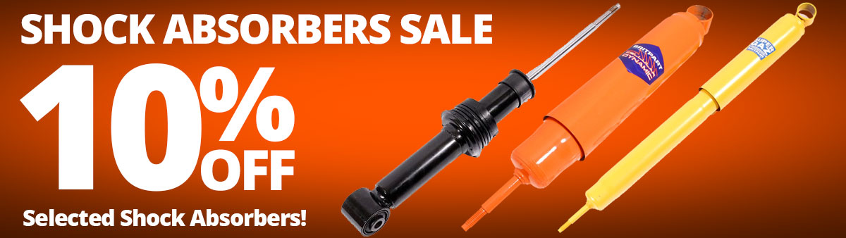 Shock Absorbers Sale - 10% Off Selected Shock Absorbers