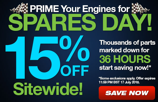 Spares Day - 15% Off Sitewide for 36 hours!