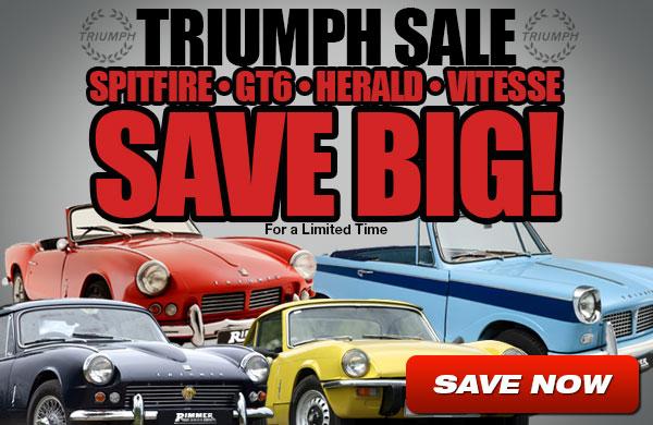 Triumph Spitfire, GT6, Herald and Vitesse Sale