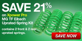 Save 20% on Xpower Pro MG TF Eibach Uprated Spring Kit