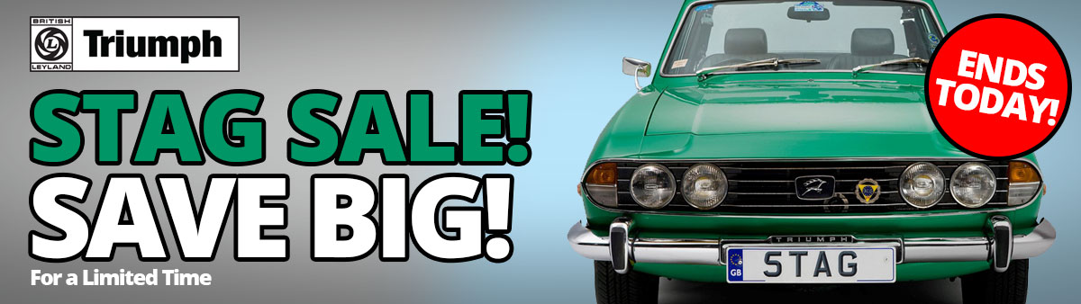 Triumph Stag Sale Ends Today