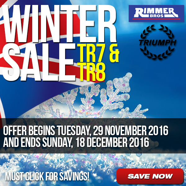 Winter Sale TR7 and TR8