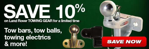 Save 10% on Land Rover Towing Gear