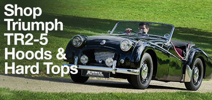 Triumph TR2-5 Hoods and Hardtops
