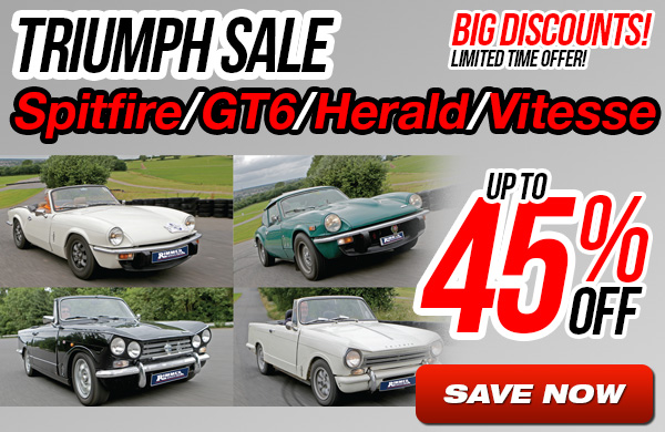 Triumph Spitfire/GT6/Herald/Vitesse Sale - Up to 45% Off