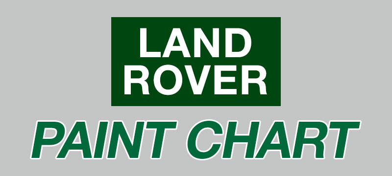 Land Rover Paint Chart