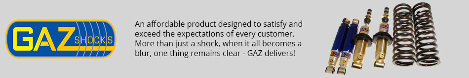 GAZ Shocks - An affordable product designed to satisfy and exceed the expectations of every customer. More than just a shock, when it all becomes a blur, one thing remains clear - GAZ delivers!