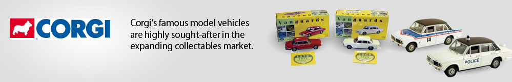Corgi's famous model vehicles are highly sought-after in the expanding collectables market.